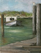 Apalachicola Bay Posters - Hitched Poster by Susan Richardson