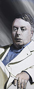 Atheist Paintings - Hitchens by Simon Kregar