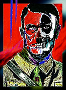 Vicious Painting Prints - HITLER the  FACE  of  EVIL Print by Hartmut Jager