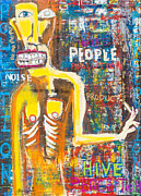 Neo Expressionism Paintings - Hive by Karl Haglund