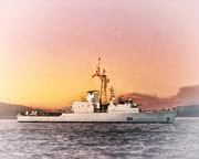 World War Art - HMCS Iroquois by Shawna Mac by Shawna Mac