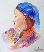 Southeast Asia Paintings - Hmong woman from Vietnam by Lena Tomnay