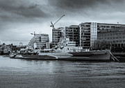 A Souppes - HMS Belfast Black and...