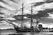 Docked Sailboats Prints - HMS Bounty Singer Island Print by Debra and Dave Vanderlaan