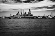 Warships Photos - Hms Dauntless Royal Navy Warship On Joint Exercise With Warships Mole Pier Key West Harbor Florida U by Joe Fox