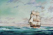 Endeavour Prints - HMS Endeavour Print by James Williamson
