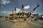 Hms Framed Prints - HMS Victory  Framed Print by Rob Hawkins