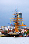 H.m.s. Warrior Portsmouth Print by Terri  Waters
