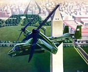 Washington Dc Paintings - Hmx-1 Mv-22 by Stephen Roberson