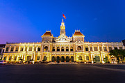 City Hall Prints - Ho Chi Minh City City Hall Print by Fototrav Print