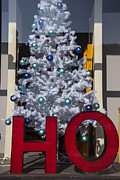 Letter Posters - HO Christmas Tree Poster by Garry Gay