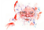 Father Christmas Paintings - Ho ho ho.....  Santa  by Stephie Butler