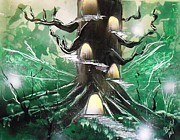 Spray Paintings - Hobbit Tree by Aaron Beeston