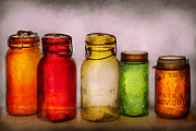 Glass Bottle Posters - Hobby - Jars - Im a Jar-aholic  Poster by Mike Savad