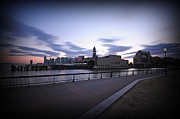 Nj Photos - Hoboken Overlooking the Ferry by Paul Ward
