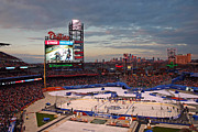 Philadelphia Phillies Framed Prints - Hockey at the Ballpark Framed Print by David Rucker