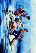 Goalie Painting Metal Prints - Hockey iPhone Case Metal Print by Hanne Lore Koehler
