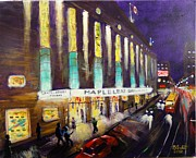 Toronto Maple Leafs Paintings - Hockey Night- Maple Leaf Gardens by Brent Arlitt