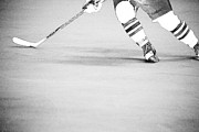 Skates Prints - Hockey Stride 2 Print by Karol  Livote