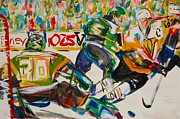 Hockey Painting Metal Prints - Hockey Metal Print by Troy Thomas