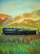 Ohio Pastels Prints - Hocking Valley Scenic Railroad  Print by Darren McGrath