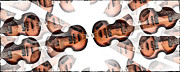 Paul Mccartney Hofner Bass Framed Prints - Hofner Bass Abstract Framed Print by Bill Cannon