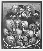 1736 Prints - Hogarth: Physicians, 1736 Print by Granger