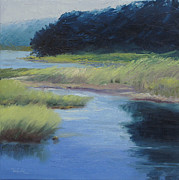 Oil  Etc. Paintings - Hogdon Pond Acadia by Sheila Psaledas