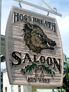 Key West Photographs Framed Prints - Hogs Breath Saloon Framed Print by Fiona Kennard