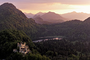 Alps Framed Prints - Hohenschwangau Castle Framed Print by Francesco Emanuele Carucci