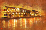 Historic Statue Painting Framed Prints - Hoi an ancient town Framed Print by Ctaf