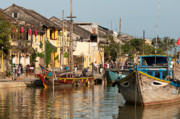 Trawler Metal Prints - Hoi An Fishing Boats 02 Metal Print by Rick Piper Photography