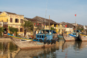 Trawler Metal Prints - Hoi An Fishing Boats 03 Metal Print by Rick Piper Photography