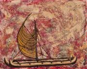Canoe Mixed Media Originals - Hokulea by Darice Machel McGuire