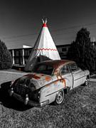 Holbrook Az - Wigwam Motel 007 Print by Lance Vaughn