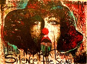 Tongue Art Painting Originals - Hold Now Your Tongue Silence the Sound Forming by Alicia Post