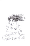 Thought Drawings - Hold That Thought by Linda Baker-Cimini
