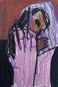 Expressionist Pastels - Holding Baby Up by Edgeworth Johnstone