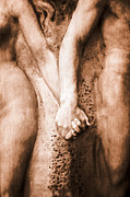 Greek Sculpture Prints - Holding Hands Print by Antonio Rosario