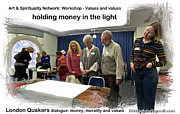 Dialogue Digital Art - Holding Money In The Light by Mike Hoyle