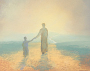 Biblical Pastels Prints - Holding On Print by James R C Martin