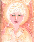 Sacred Space Prints - Holding The Sacred Space Print by Nancy TeWinkel Lauren