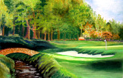 Golf Pastels - Hole Number10 by Lamarr Kramer