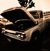 Car Culture Posters - Holga of a Yucca Valley Truck Poster by Carolina Liechtenstein