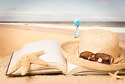 Straw Hat Prints - Holiday Book Print by Christopher and Amanda Elwell