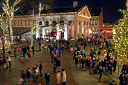 Quincy Market Photos - Holiday Bustle by Joann Vitali