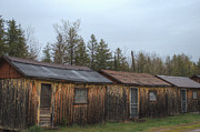 Old Cabins Prints - Holiday Cabins of the Past 1 Print by Deborah Smolinske