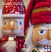 Nutcrackers Prints - Holiday Card - Nutcracker Holiday Greetings Print by Bold Coast Photography