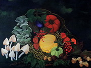 Cornucopia Painting Metal Prints - Holiday Harvest Metal Print by D L Gerring