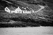 Rugged Coast Framed Prints - Holiday homes just above the rocks at Tra Na Rossan beach county donegal ireland Framed Print by Joe Fox